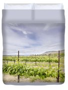 Vineyard Landscape In Maryhill Washington State Duvet Cover