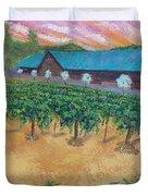 Vineyard Sunset Duvet Cover