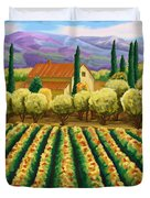Vineyard With Olives Tuscany Duvet Cover