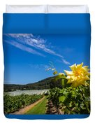 Vineyard's Companion Rose Duvet Cover