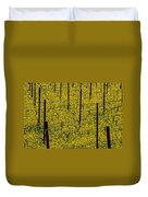 Vineyards Full Of Mustard Grass Duvet Cover