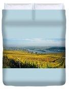 Vineyards Near A Town, Rudesheim Duvet Cover
