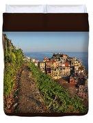 Vineyards Of Manarola Duvet Cover