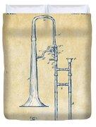 Vintage 1902 Slide Trombone Patent Artwork Duvet Cover
