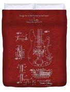 Vintage 1961 Fender Guitar Patent Duvet Cover