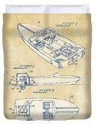 Vintage 1972 Chris Craft Boat Patent Artwork Duvet Cover