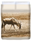 Vintage African Safari Wildbeest Duvet Cover