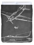 Vintage Airplane Patent Duvet Cover