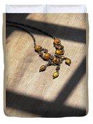Vintage Amber Necklace Duvet Cover