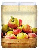 Vintage Apple Basket Duvet Cover