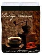 Vintage Aroma Duvet Cover
