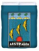 Vintage Australia Travel Poster Duvet Cover