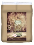 Vintage Ball Mason Jar Duvet Cover