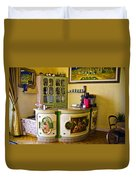 Vintage Bar - Hotel Subasio - Assisi Italy Duvet Cover