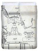 Vintage Barber Chair Patent Duvet Cover