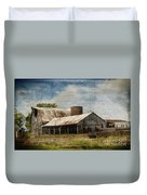 Barn -vintage Barn With Brick Silo - Luther Fine Art Duvet Cover