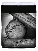 Vintage Baseball And Glove Duvet Cover