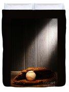 Vintage Baseball Duvet Cover