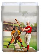 Vintage Baseball Print Duvet Cover