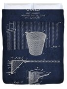Vintage Basketball Goal Patent From 1925 Duvet Cover