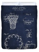 Vintage Basketball Goal Patent From 1936 Duvet Cover by Aged Pixel