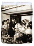 Vintage Beauty Parlor Duvet Cover