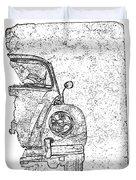 Vintage Beetle Duvet Cover