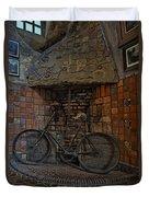 Vintage Bicycle Duvet Cover by Susan Candelario
