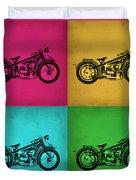 Vintage Bike Pop Art 1 Duvet Cover
