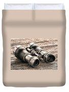 Vintage Binoculars Duvet Cover
