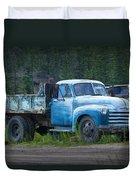 Vintage Blue Chevrolet Pickup Truck Duvet Cover