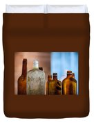 Vintage Bottles Duvet Cover by Adam Romanowicz