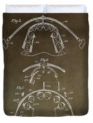 Vintage Braces Patent Duvet Cover