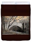 Vintage Bridge In South Park Duvet Cover