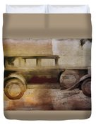 Vintage Buick Duvet Cover by David Ridley