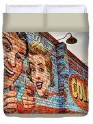 Vintage Building Art Duvet Cover
