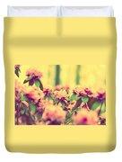 Vintage Bumblebee's Bush Duvet Cover