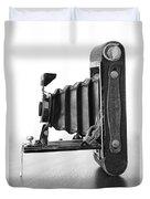 Vintage Camera - Black And White Duvet Cover