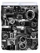 Vintage Camera Montage Duvet Cover