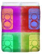Vintage Camera Pop Art 3 Duvet Cover