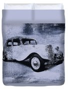 Vintage Car Duvet Cover by David Ridley