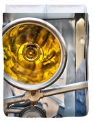 Vintage Car Light Duvet Cover