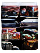 Vintage Cars Collage 2 Duvet Cover