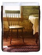 Vintage Chair And Table Duvet Cover