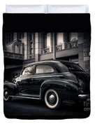 Vintage Chevrolet In 1934 New York City Duvet Cover