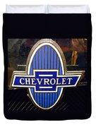 Vintage Chevrolet Logo Duvet Cover