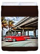 Vintage Chevy Impala Duvet Cover
