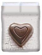 Vintage Chocolate Heart Duvet Cover