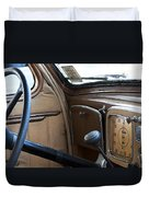 Vintage Chrysler Auto Dashboard And Steering Wheel Poster Look Duvet Cover