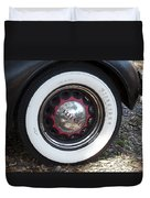 Vintage Chrysler Automobile Wide Whitewall Tire Poster Look Usa Duvet Cover